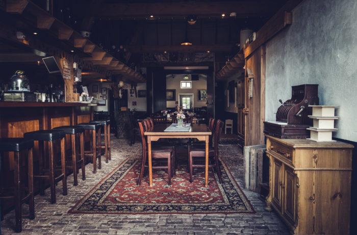 Het interieur van Theehuis Grootveen in landelijke stijl